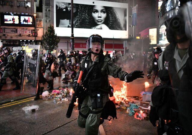 Protestations à Hong Kong