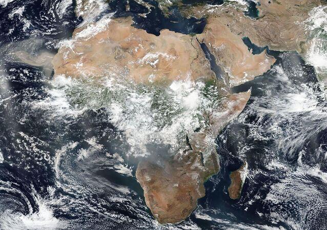 Image satellites de l'Afrique