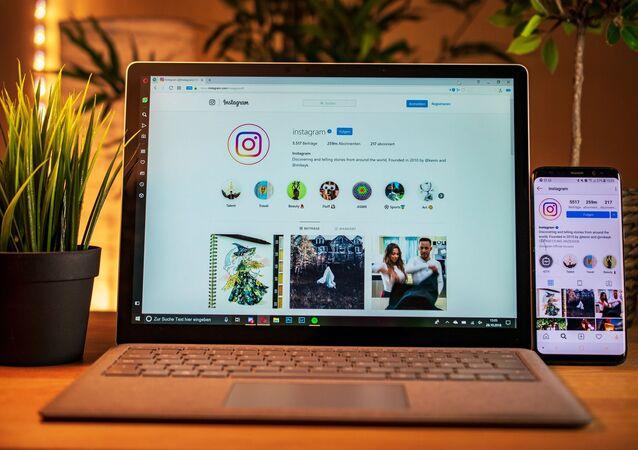 Instagram sur un ordinateur portable
