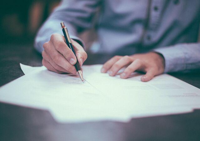 Un document, image d'illustration