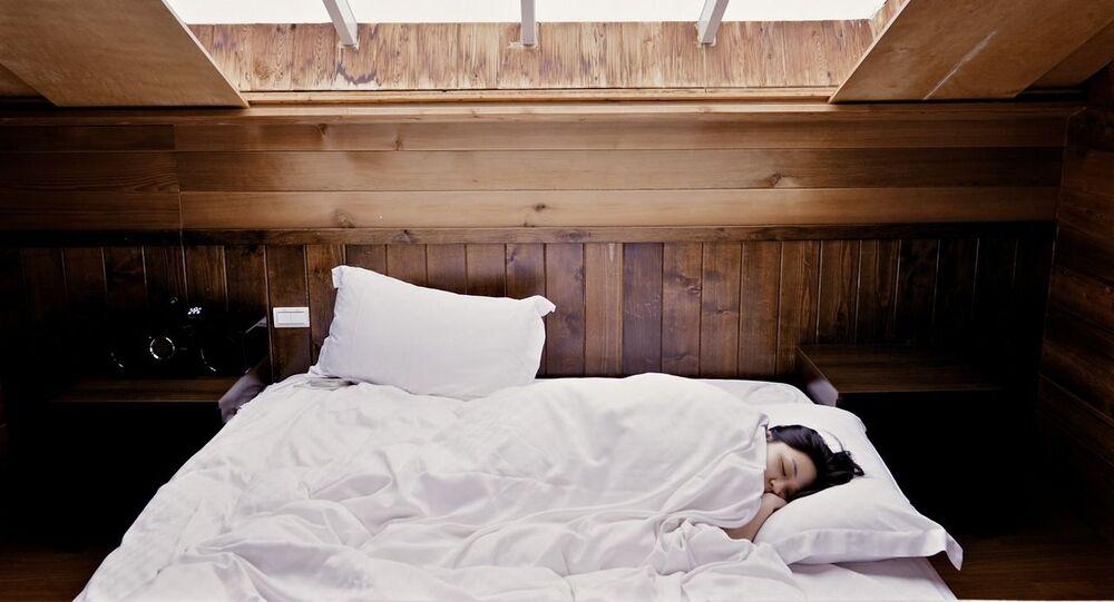 Une femme qui dort