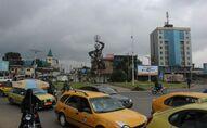 Une vue du rond-point Deido à Douala
