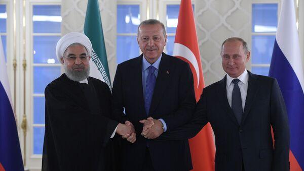 Rohani, Erdogan et Poutine à Ankara, le 16 septembre 2019 - Sputnik France