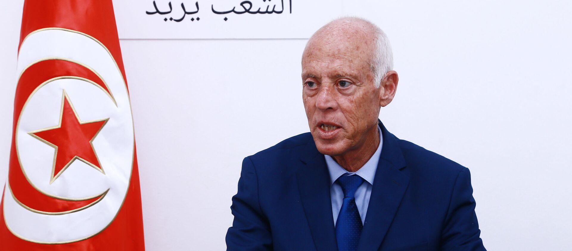 Le candidat indépendant à l'élection présidentielle tunisienne Kaïs Saïed  - Sputnik France, 1920, 15.10.2019