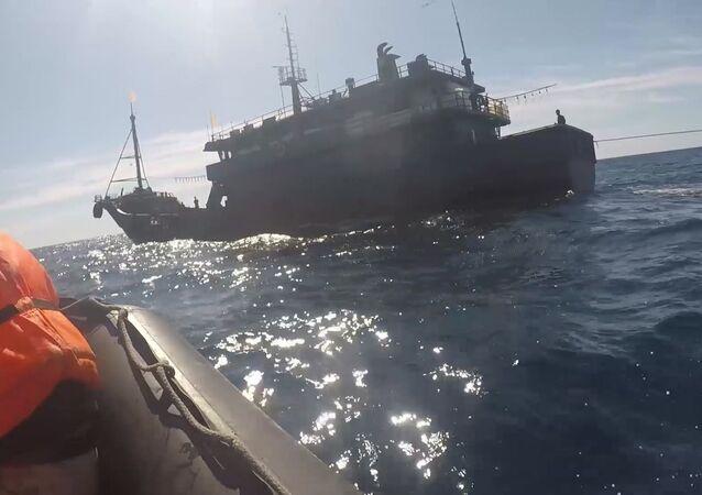Des braconniers nord-coréens dans les eaux russes de la mer du Japon (17 septembre 2019)