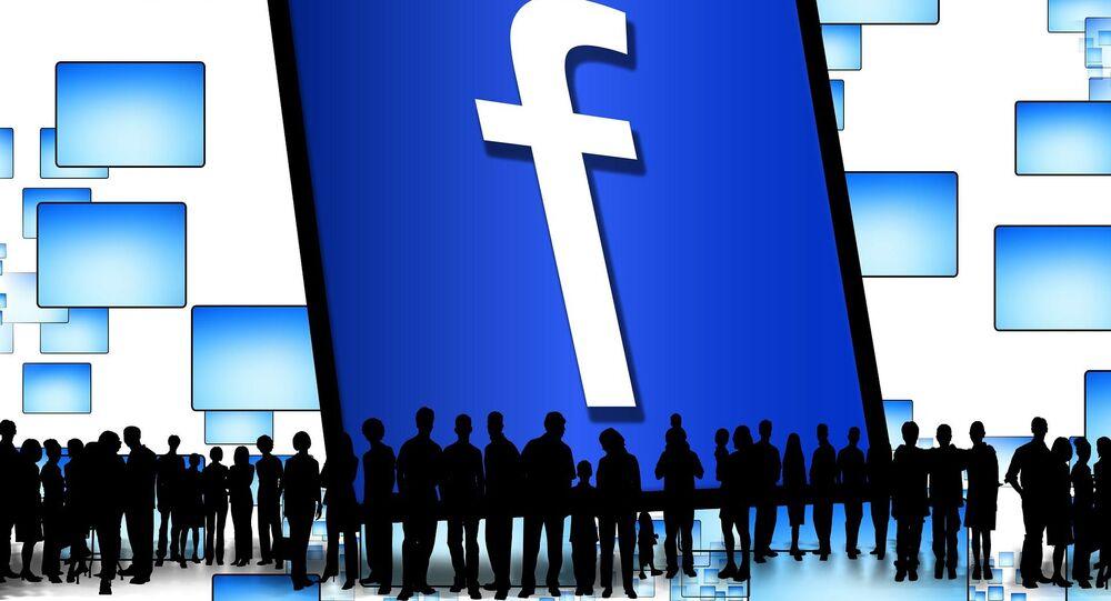 Un logo de Facebook
