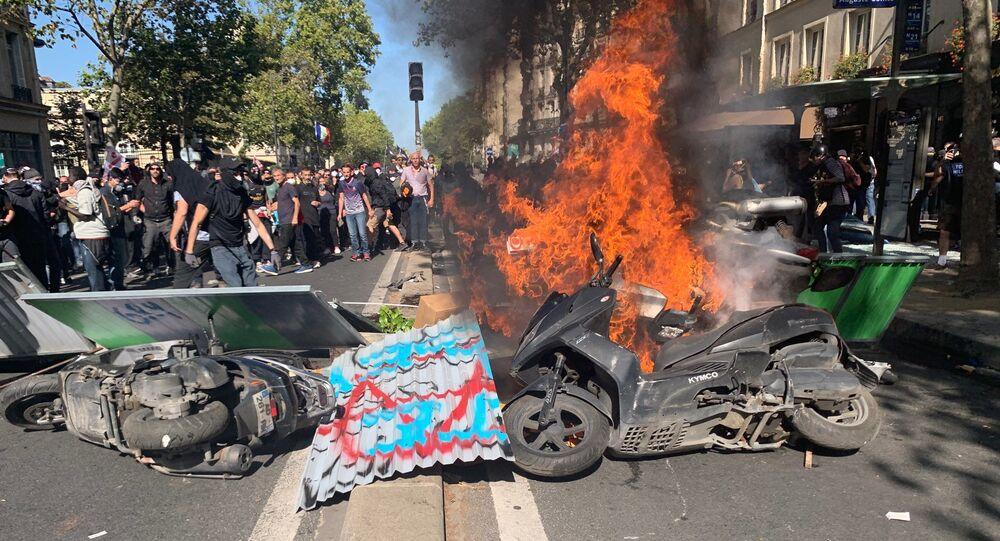 Dégradations lors de la marche climat à Paris, le 21 septembre