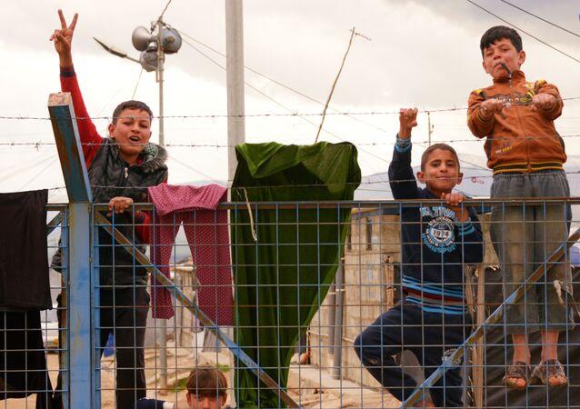 Camp de réfugiés syriens en Irak
