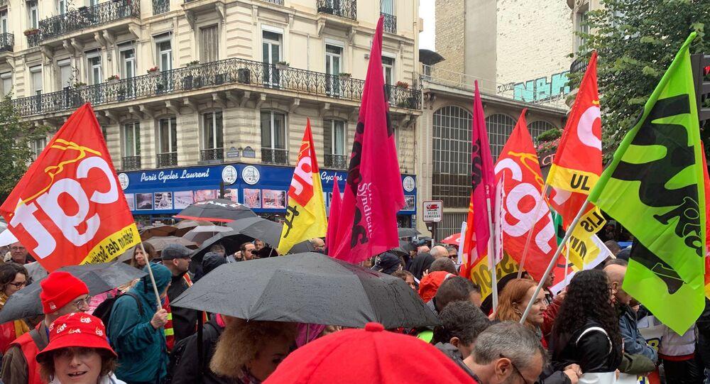 Manifestation interprofessionnelle à Paris contre la réforme des retraites