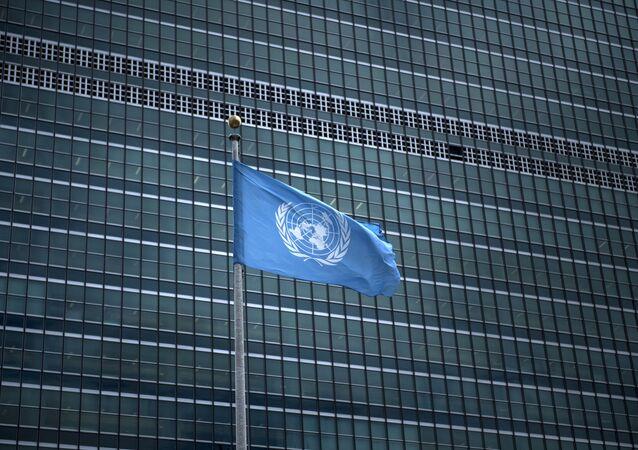 Le drapeau des Nations Unies