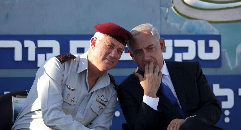 Benyamin Netanyahou et Benny Gantz
