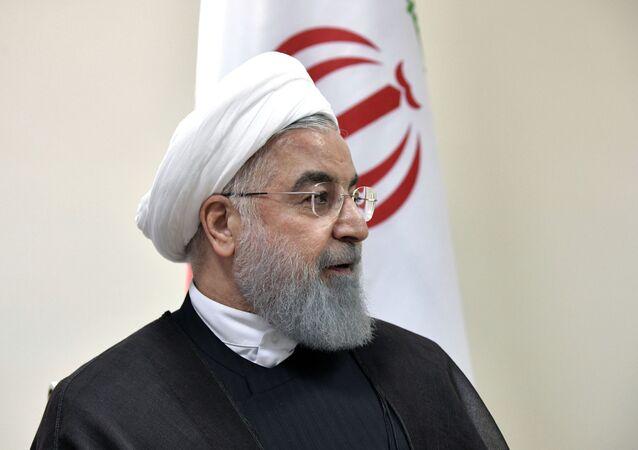 Le 12 août 2018. Le président iranien Hassan Rouhani rencontre le président russe Vladimir Poutine lors du 5e sommet de la Caspienne à Aktau.