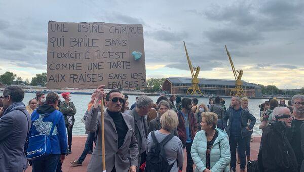 Une manifestation des habitants de Rouen après l'incendie de Lubrizol, 30 septembre 2019 - Sputnik France