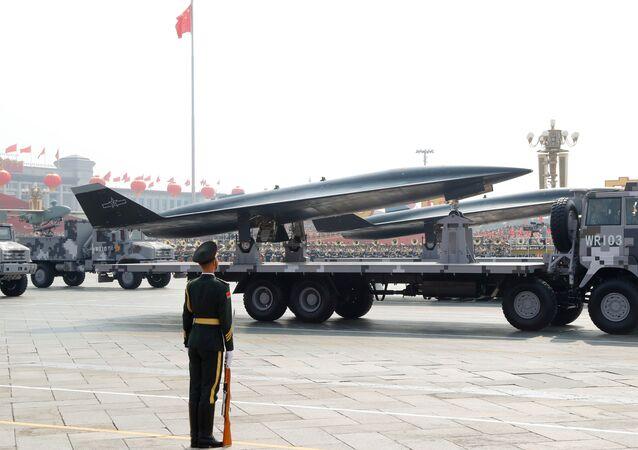 Le drone hypersonique WZ-8 lors du défilé militaire à Pékin