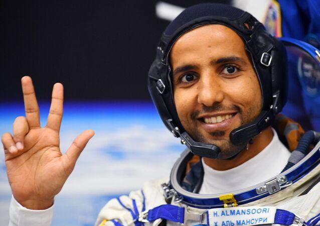 le cosmonaute émirati Hazza al-Mansouri