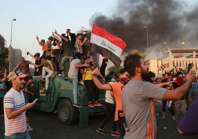 Une manifestation antigouvernementale en Irak