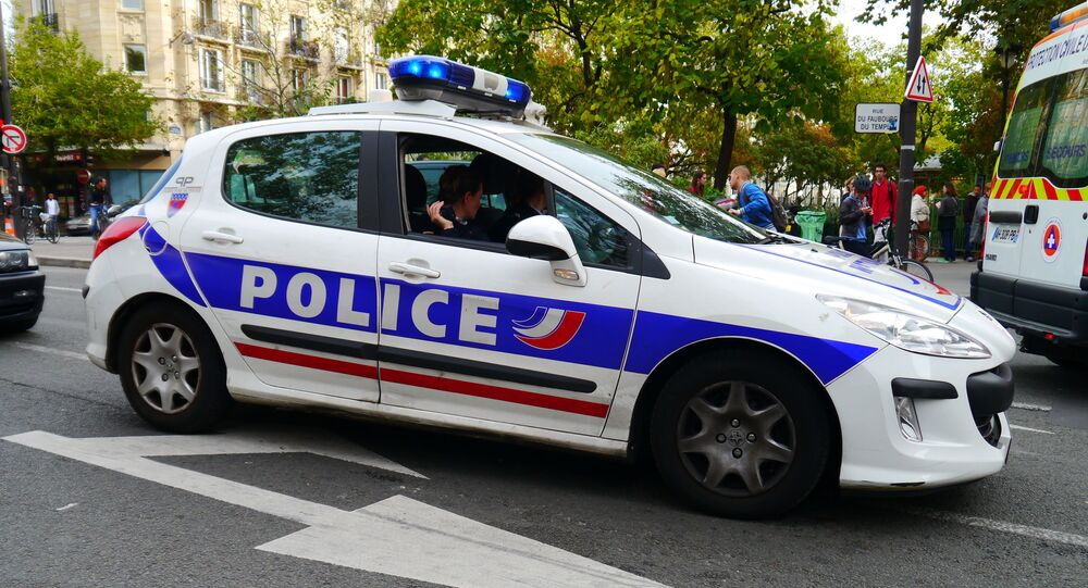 Véhicule de police, photo d'illustration