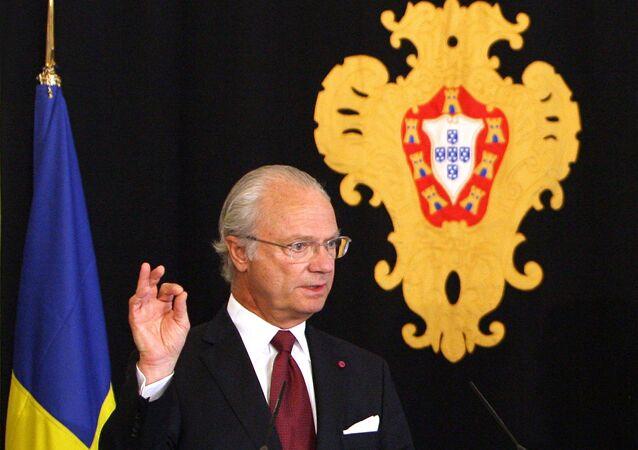 le roi Charles XVI Gustave de Suède
