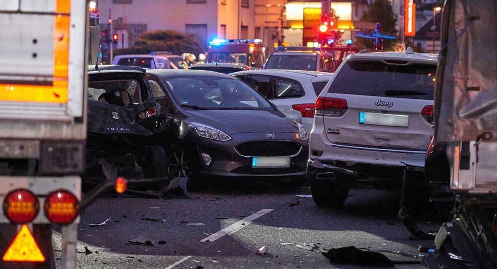 Un camion a foncé sur des voitures à Limburg (7 octobre 2019)