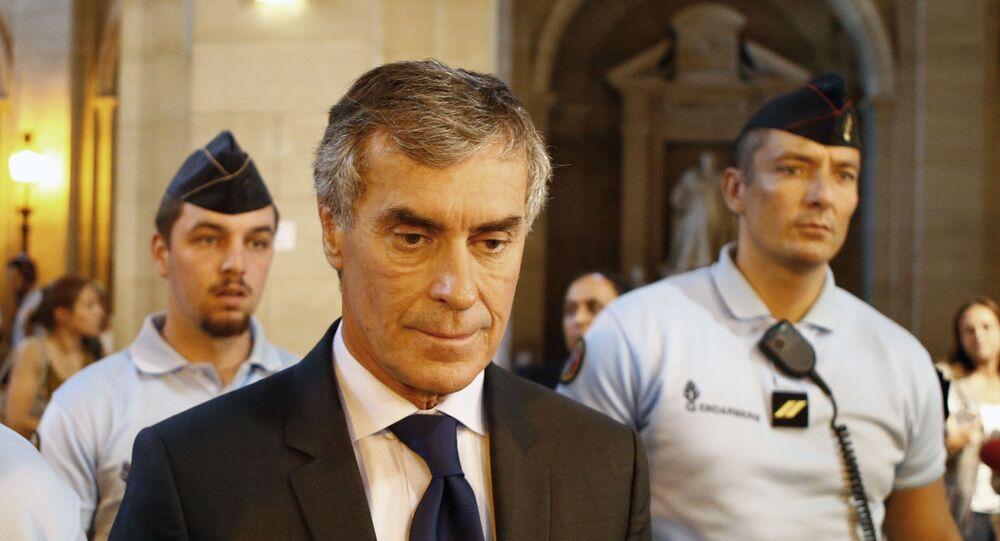 Jerome Cahuzac quitte la cour à Paris, septembre 2016