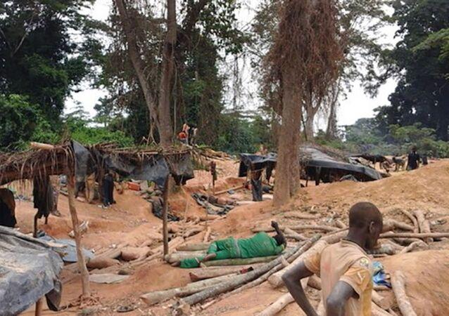 Orpaillage en Côte d'Ivoire