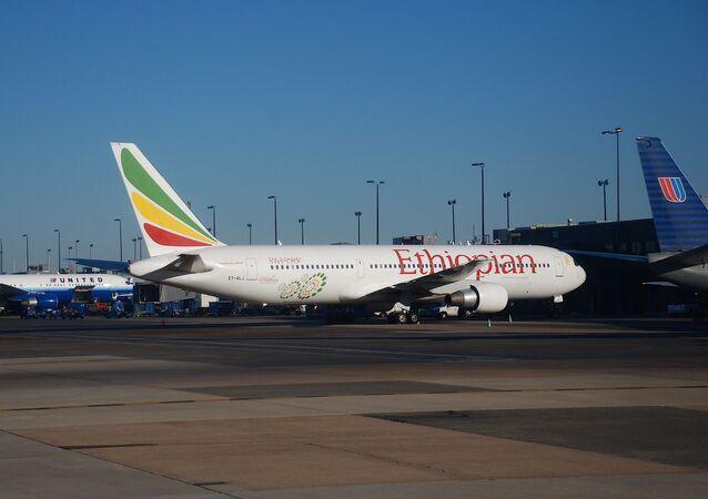 Un Boeing 767 d'Ethiopian Airlines