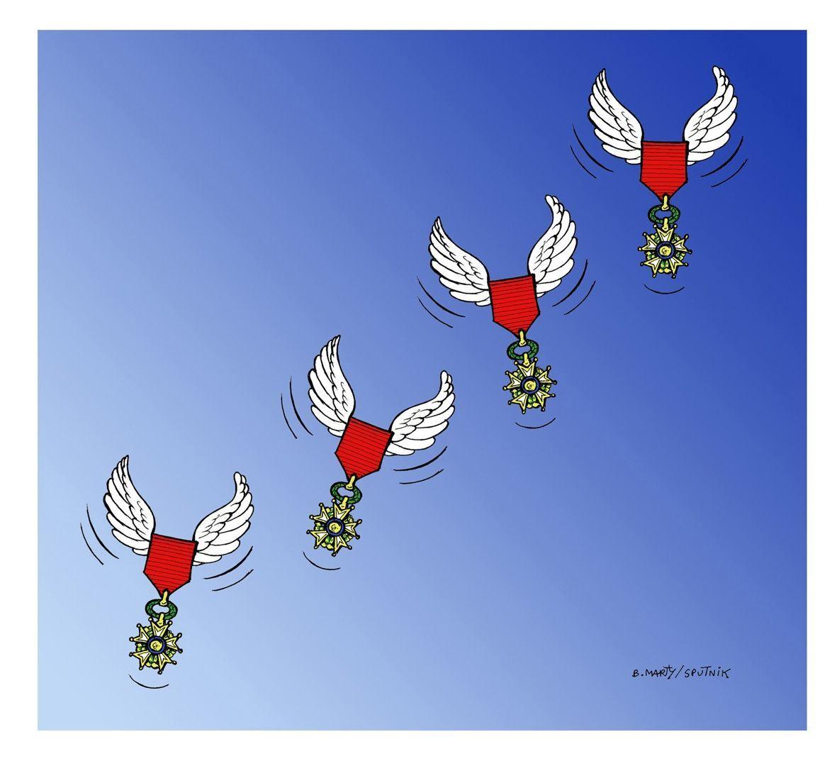 Attentat Préfecture de Paris: les victimes décorées de la Légion d'honneur à titre posthume