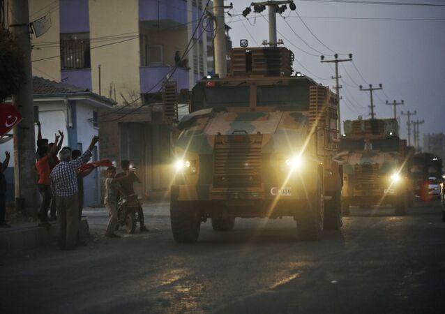 Des blindés turcs (photo d'archives)