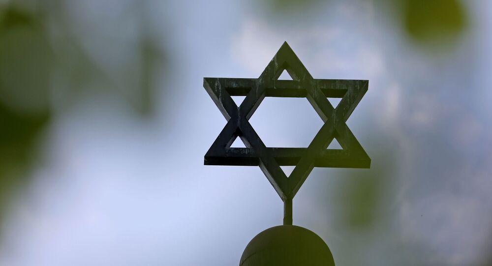 Étoile de David sur la synagogue de la communauté juive à Halle,  en Allemagne