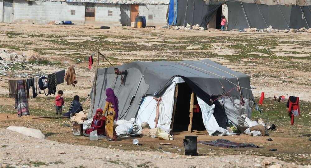 Réfugiés syriens près de Homs (image d'illustration)