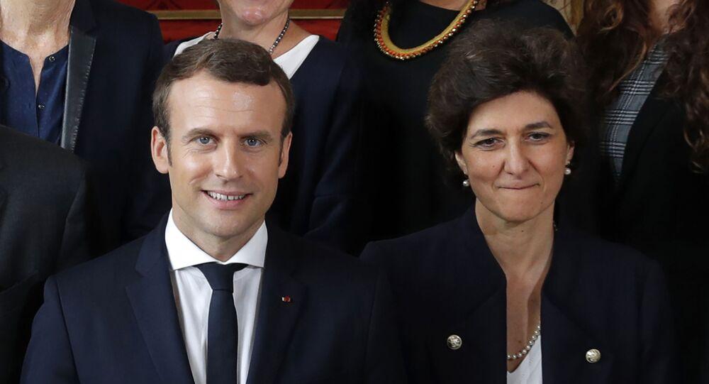 Emmanuel Macron et Sylvie Goulard, le 18 mai 2017