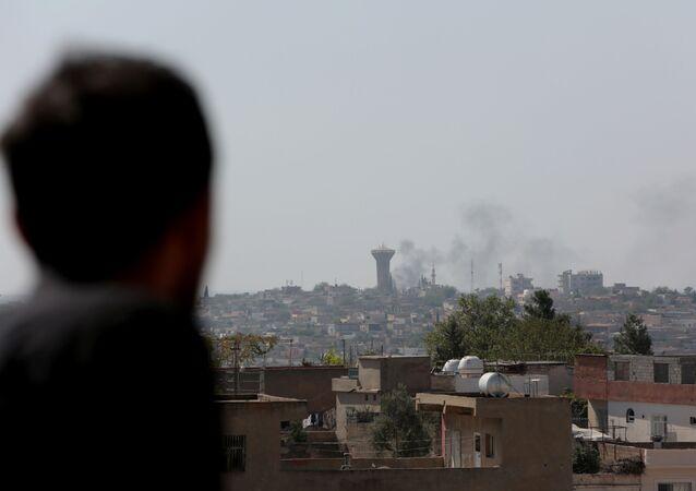 La ville de Qamichli bombardée par l'armée turque