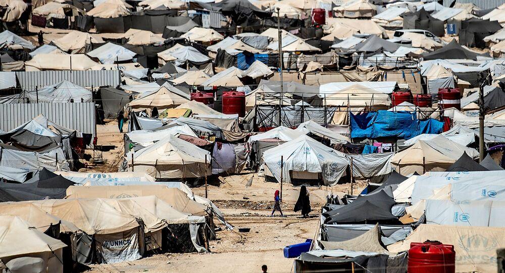 Le camp d'al-Hol, dans le nord-est de la Syrie. Archives