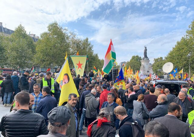 Manifestation en soutien aux Kurdes de Syrie