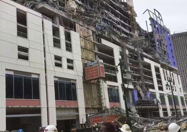 L'hôtel en chantier à La Nouvelle-Orléans