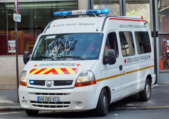 Véhicule de premiers secours de la Croix-Rouge française (image d'illustration)