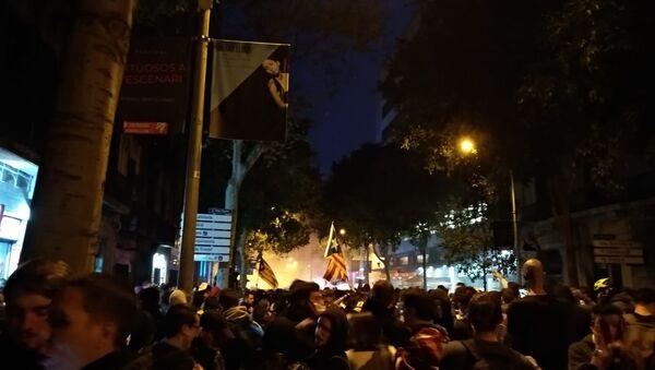 Central Barcelona during protests on 18 Oct - Sputnik France