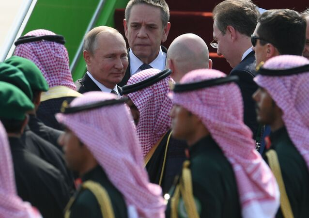 Vladimir Poutine lors de sa visite à l'Arabie saudite