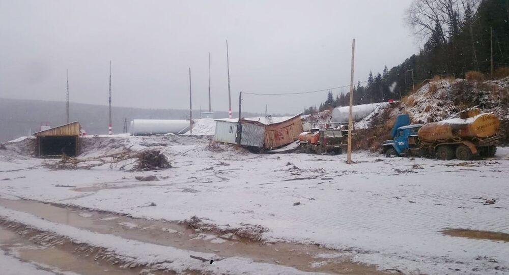 la rupture d'un barrage en Sibérie
