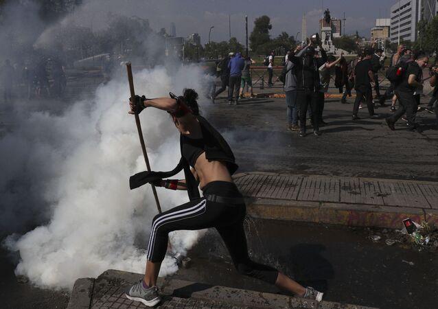 Les manifestations au Chili
