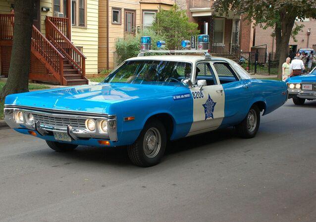 Une voiture de police à Chicago