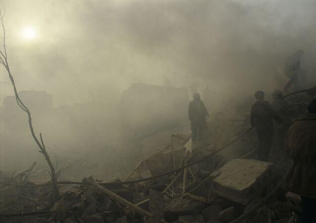 Conséquences du séisme à Spitak, en Arménie (décembre 1988)