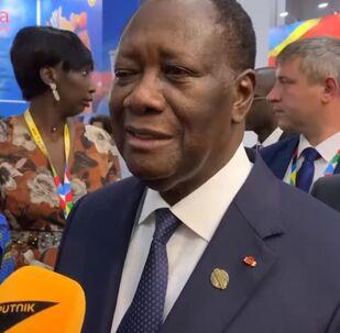 Le Président ivoirien Alassane Ouattara