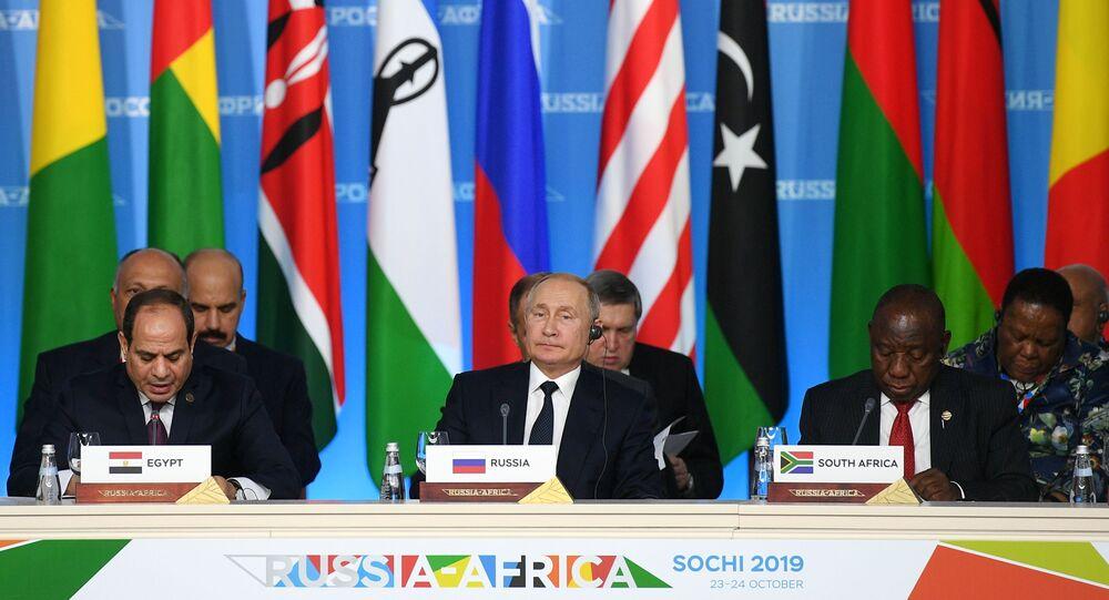 Poutine et leaders africains au Forum Russie-Afrique