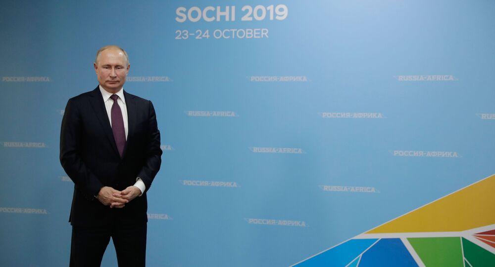 Vladimir Poutine au sommet Russie-Afrique
