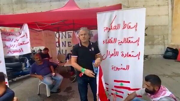 Des protestataires sur la place Riad el-Solh, au centre de Beyrouth - Sputnik France