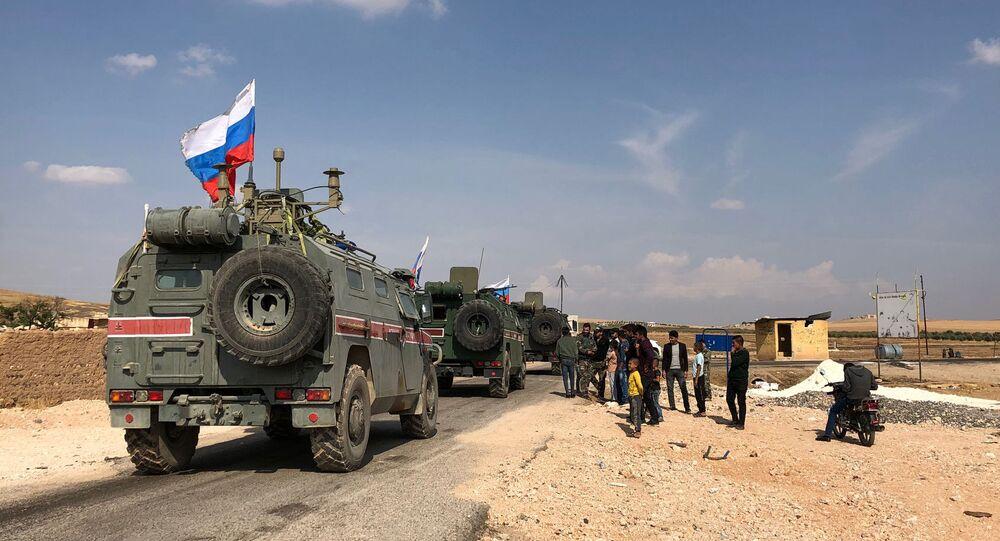 des véhicules blindés russes à Kobané, image d'illustration