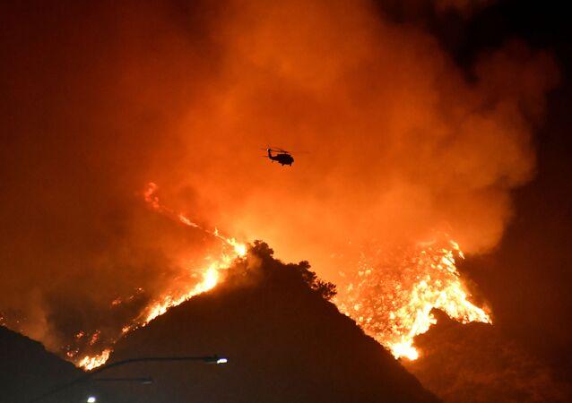 Incendie en Californie, le 28 octobre 2019