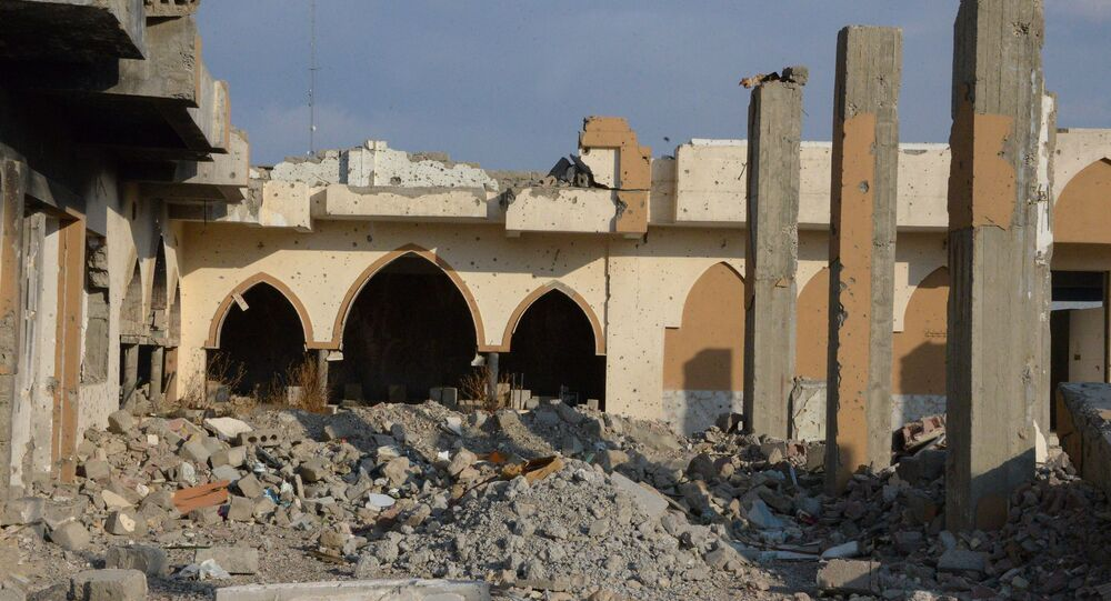 Une mosquée à Mossoul d'où al-Baghdadi  s'adressant aux fidèles
