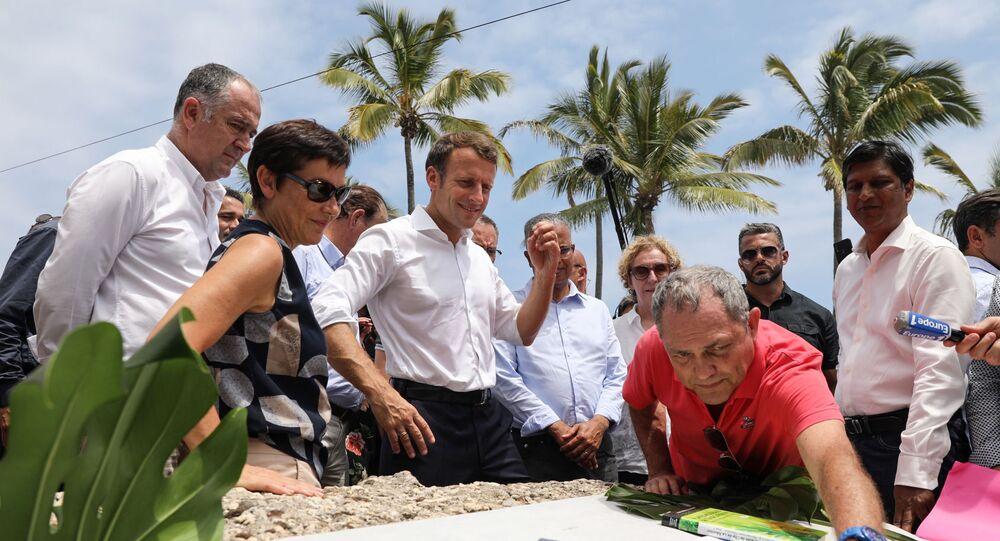 Emmanuel Macron en visite à La Réunion